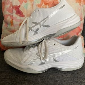 ASICS Gel-Tactic 2 White/Silver Volleyball Size 8